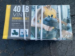New CAP 40 lb dumbbell barbell free weight set for Sale in Chandler, AZ