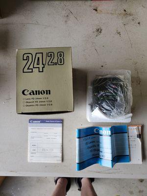 Canon FD 24mm f2.8 camera lens for Sale in Everett, WA
