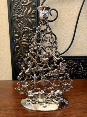 Vintage Silver Plated Christmas Tree Candle Holder for Sale in Clovis, CA