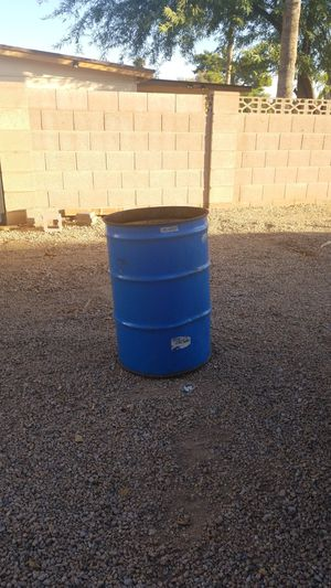 55 gal metal drums. 6 of them for Sale in Peoria, AZ
