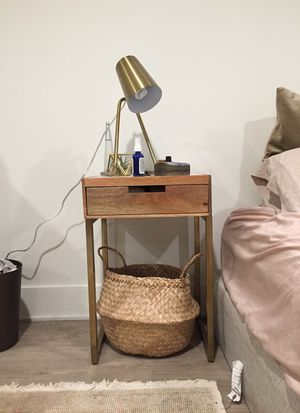Marble and brass nightstand for Sale in Sudbury, MA