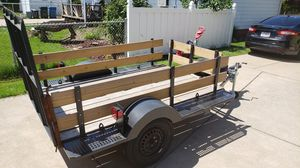 5x8 trailer. Motorcycle tie downs. Removable rails. for Sale in Middleburg Heights, OH