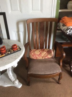 Antique chair tigerwood for Sale in Philadelphia, PA