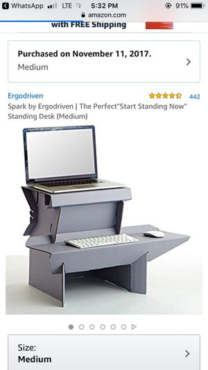 Ergo driven tabletop standing desk for Sale in Port Richey, FL