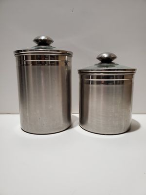 5 Stainless Steel Kitchen Canisters for Sale in Rialto, CA