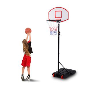 Adjustable Basketball Hoop System Stand Kid Indoor Outdoor Net Goal w/ Wheels for Sale in Seattle, WA