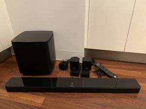 Bose cube subwoofer&soundbar, Bose brand REMOTE-COMES W/EVERYTHING-MINT CONDITION- can deliver for a small charge or young a hear it for Sale in PRINCE, NY