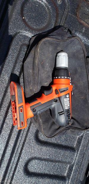 Black & Decker Cordless drill w/bag for Sale in Jupiter, FL