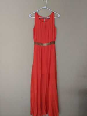 Evening Gown, Wedding guest dress, Prom Dress- Long Orange Dress for Sale in La Verne, CA