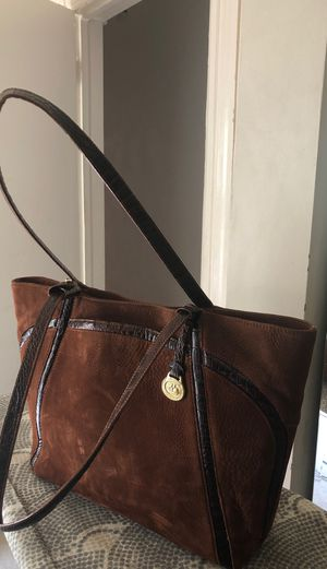 Brahmin Brown Suede & Leather tote Bag for Sale in Chicago, IL