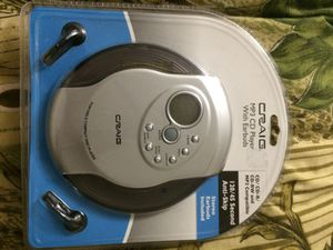 MP3 CD player with earbuds,, for Sale in Hayward, CA