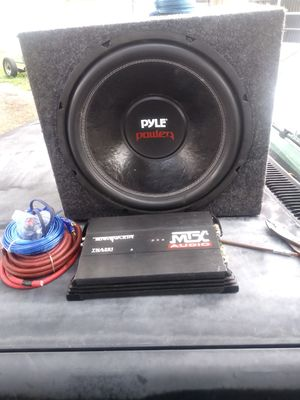 15 inch sub mtx amp and kit for Sale in Winter Haven, FL