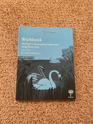 CNA- book and workbook Hartman's edition for Sale in Matthews, NC