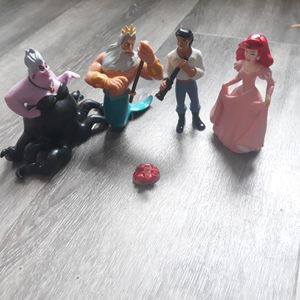 Vintage LITTLE MERMAID TOYS DISNEY FIGURES, ACCESSORIES, CAKE TOPPERS PLAY TOYS for Sale in Longmont, CO