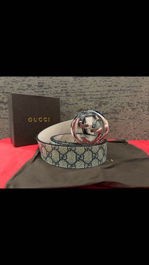 Gucci Blue GG Supreme Belt *Authentic* for Sale in Queens, NY