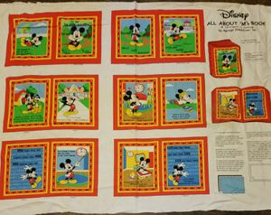 Disney mickey mouse soft book panel for Sale in Corona, CA
