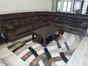 Couch with area rug for Sale in Anaheim, CA