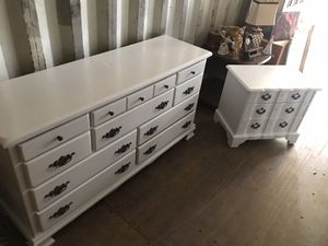 Custom Farmhouse Dresser & Nightstand Approx 65in for Sale in Fairburn, GA