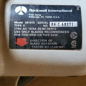 Vintage Rockwell Motorized Miter Saw for Sale in Plainview, NY