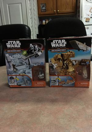 Two brand new Star Wars Micromachines, for Sale in Lampasas, TX