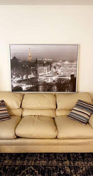 Large modern wood picture silver & gray size 55_40 inch for Sale in South San Francisco, CA
