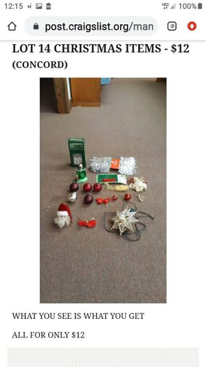 LOT # 14 CHRISTMAS ITEMS for Sale in Lynchburg, VA