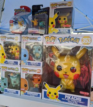Funko POP Pokemon Pikachu Squirttle Charmander Bulbasaur Vinyl Figure Collectible Bobblehead Toy Doll Exclusive for Sale in San Diego, CA