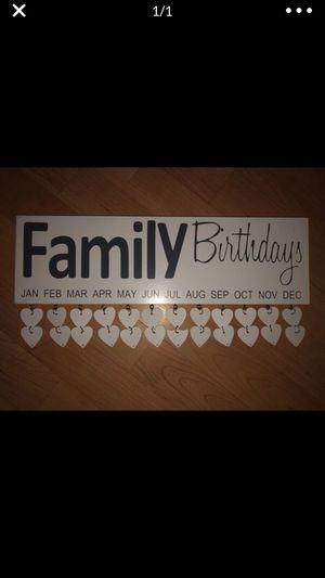 Family birthday board picture for Sale in Stockton, CA