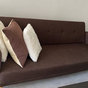 Futon Sofa Bed Sleeper Convertible Couch 3 Seat Foldable Full Size , Dark brown for Sale in Los Angeles, CA