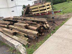 Free 6x6 pressure treated timber/railroad ties for Sale in West Orange, NJ