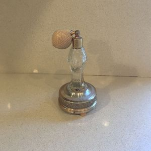 Vintage tall Musical Perfume Clear Crystal Glass Bottle Music Box for Sale in Danville, CA