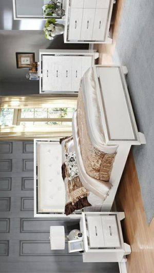 İn stock🍀SAME DAY DELİVERY🍀Bianca White Queen/King Bedroom Set | B591 for Sale in Jessup, MD