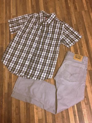 Button up shirt and Levi's for Sale in Peyton, CO