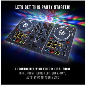 Numark Party Mix | Beginners DJ Controller for Serato DJ Intro With 2 Channels, Built In Audio Interface With Headphone Output, Pad Performance Contr for Sale in Laurel, MD
