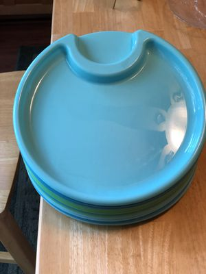 Plastic pampered chef plates for Sale in Reston, VA