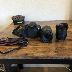 Canon EOS Rebel T5i With Stock Far Zoom Lens And Fish Eye for Sale in Aurora, CO