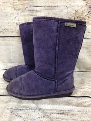 Girls Purple Bearpaw Suede Emma Tall Boots Size Youth 5 US for Sale in Silverdale, WA