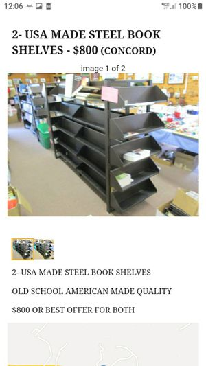AMERICAN MADE STEEL BOOKSHELVES for Sale in Lynchburg, VA