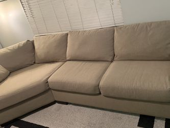 Two-Piece Beige Sofa for Sale in Clearwater,  FL