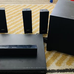 Sony 5.1 Speakers with Bluray Player (wired) - FREE for Sale in Norwood, MA