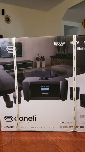 Daneli Acoustics. HD-52 5.1 Home Theater System. for Sale in MD CITY, MD