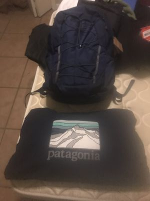 Brand new Patagonia back pack with matching hood has tags MSRP 200$ for Sale in Mesa, AZ