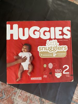 Huggies Little Snugglers size 2 baby diapers - 180 count for Sale in Phoenix, AZ