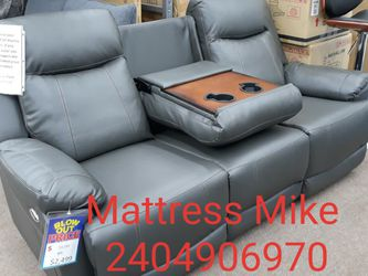 FREE Local Curbside Delivery LED lighted Gray Powered Recliner sofa Loveseat Chair for Sale in College Park,  MD