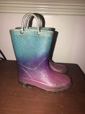Girls light up glitter rain boots for Sale in Houston, TX