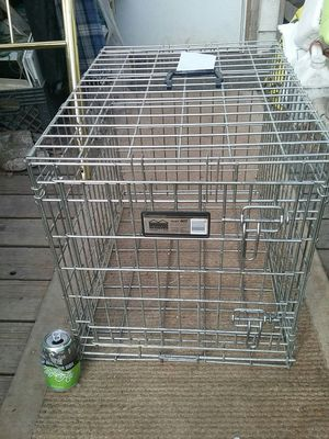 Strong medium steel dog crate for Sale in Denver, CO