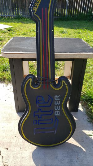 Old Miller Beer Neon Guitar sign for Sale in Riverside, CA