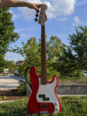 Squier by Fender Affinity Series Jazz Bass in Red electric guitar for Sale in Arlington, VA