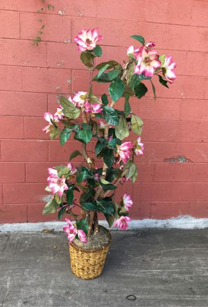 "Decorative potted flower plant pink 5ft 5"" for Sale in Duluth, GA"