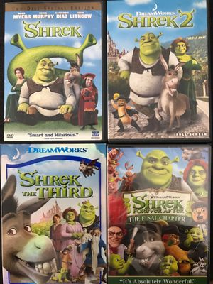 Shrek Movies 1-4 for Sale in La Habra Heights, CA
